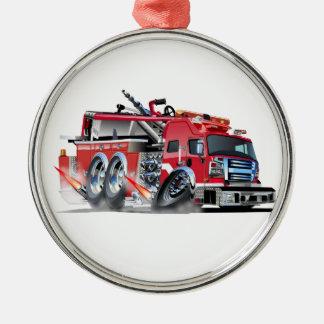 Firetruck Burnout Silbernes Ornament