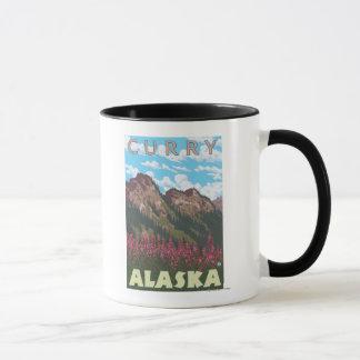 Fireweed u. Berge - Curry, Alaska Tasse