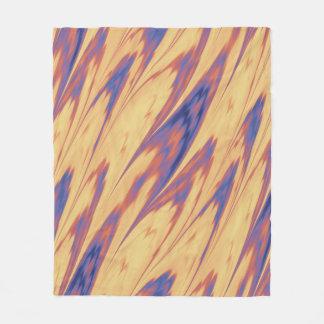 Firey gefärbte Krawatte Fleecedecke