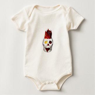 Firey Herbst-Blatt-Schädel Baby Strampler