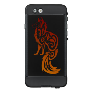 Firey roter Stammes- Fox Kitsune LifeProof NÜÜD iPhone 6 Hülle