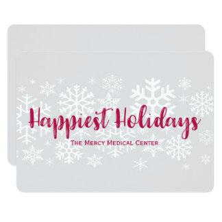 Firmenkundengeschäft-glücklichste Feiertags-flache Karte