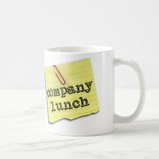 Firmenmittagessen-Tasse Tasse