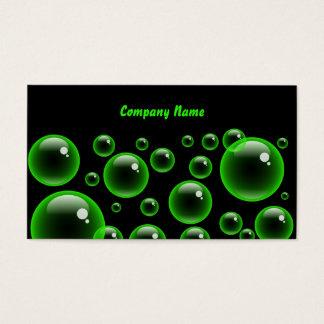 Firmennamen Green Bubbles, Company Visitenkarte