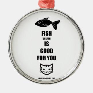 Fisch-Atem ist für Sie gut Silbernes Ornament