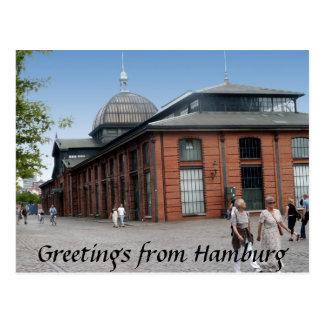 Fisch-Auktions-Hall-Postkarte Postkarte