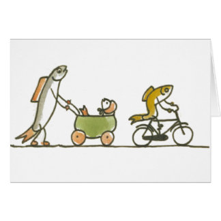 Fisch-Buggy und Fahrrad Karte