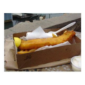 Fisch-Chips Postkarte