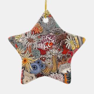 Fisch Clown und Anemonen Keramik Ornament