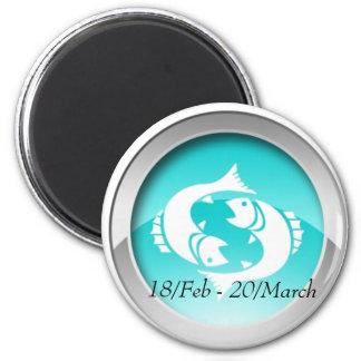 Fisch-Datums-Magneten Runder Magnet 5,7 Cm