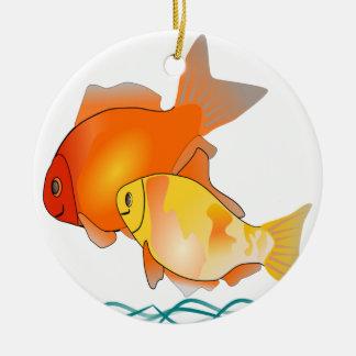 Fisch-Druck-Entwurfs-Weihnachtsbaum-Verzierung Keramik Ornament