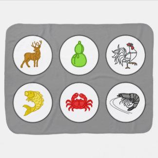 Fisch-Garnelen-Krabben-Decken-Spiel-Brett - Puckdecke