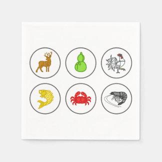 Fisch-Garnelen-Krabben-Sammlungs-Spiel-Brett Serviette