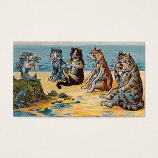 Fisch-Geschichten Louis Wain - lustige Visitenkarte