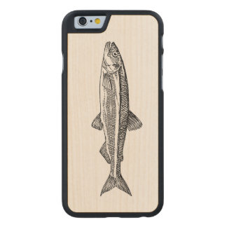 Fisch-Illustration iPhone Fall Carved® iPhone 6 Hülle Ahorn