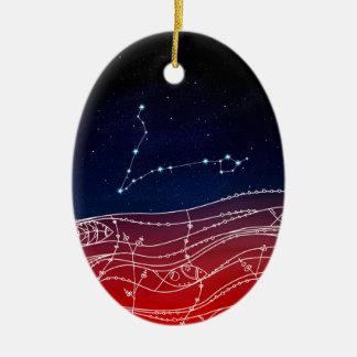 Fisch-Konstellations-Entwurf Keramik Ornament