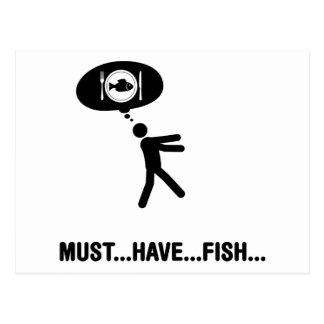 Fisch-Liebhaber Postkarte