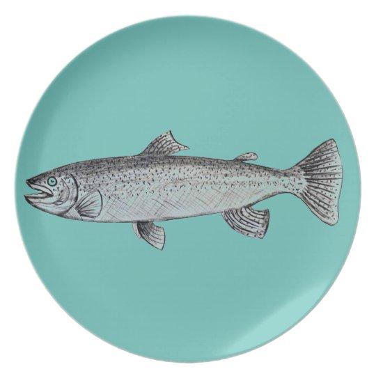 Fisch-Melamin-Platte Melaminteller