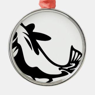 Fisch-Reinfall Silbernes Ornament