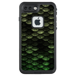 Fisch-Skala-Muster-tiefgrüne Schatten LifeProof FRÄ' iPhone 8 Plus/7 Plus Hülle