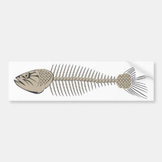 Fisch-Skelett Auto Aufkleber