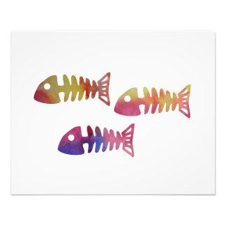 Fisch-Skelett Fotodruck