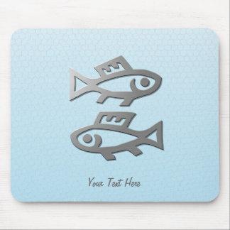 Fisch-Tierkreis-Stern unterzeichnen herein helles  Mousepad