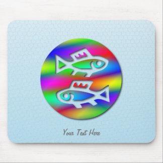 Fisch-Tierkreis-Stern-Zeichen-Regenbogen-Fische Mousepad
