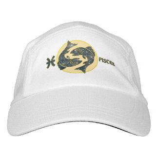 Fisch-Tierkreis-Strick-Leistungs-Hut, weiße Kappe