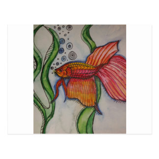 Fischartiges fischartiges postkarte