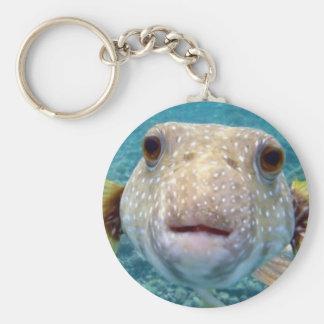 Fischartiges Gesicht Keychain Standard Runder Schlüsselanhänger