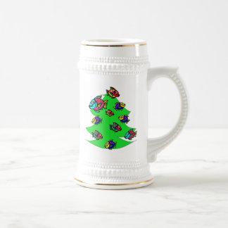 Fische am Weihnachtsbaum Bierglas
