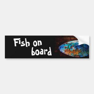 Fische an Bord Autoaufkleber