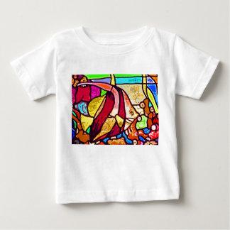 Fische auf Riff, Buntglas (ct) Baby T-shirt