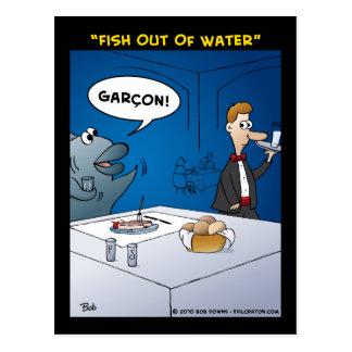 """""""Fische aus Wasser heraus """" Postkarte"""