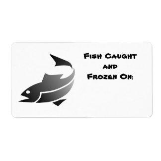 Fische beschriften (eingefroren Fisch-Datum) Versandetiketten