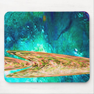 Fische des tiefen Wassers Gold Mousepad