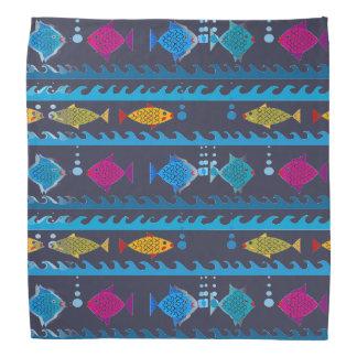 Fische, die Entwurf auf Bandana schwimmen Kopftuch