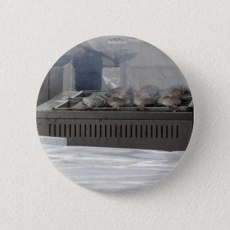Fische draußen grillen runder button 5,1 cm