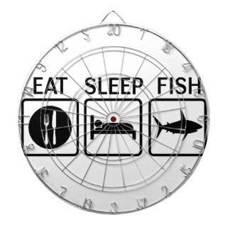 Fische essen Schlaf Dartscheibe