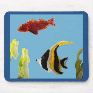 Fische im Meer, Wasserkunst Mauspad