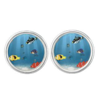 Fische im Ozean Manschetten Knöpfe