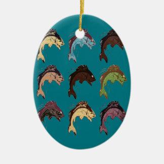 Fische Keramik Ornament