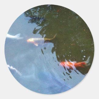 Koi fisch aufkleber for Koi karpfen teich