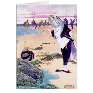 Fische Maitre'D an der Hummer-Quadrille Karte