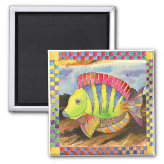 Fish with Checkered Border #3