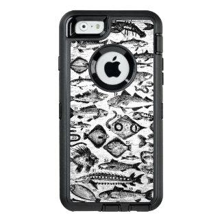 Fische, Ozean-fischartiges schwarzes u. weißes OtterBox iPhone 6/6s Hülle