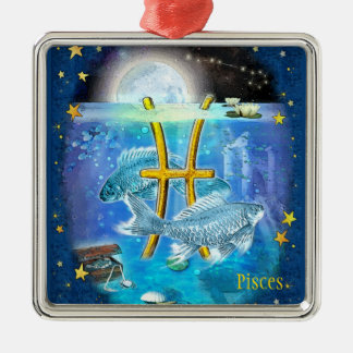 Fische Silbernes Ornament
