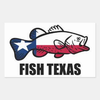 Fische Texas Rechteckiger Aufkleber