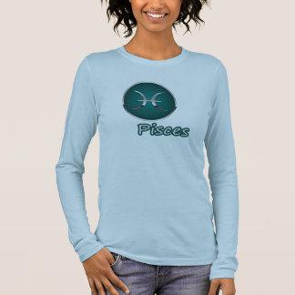 Fische --Tierkreissun-Zeichen-T-Shirt Langarm T-Shirt